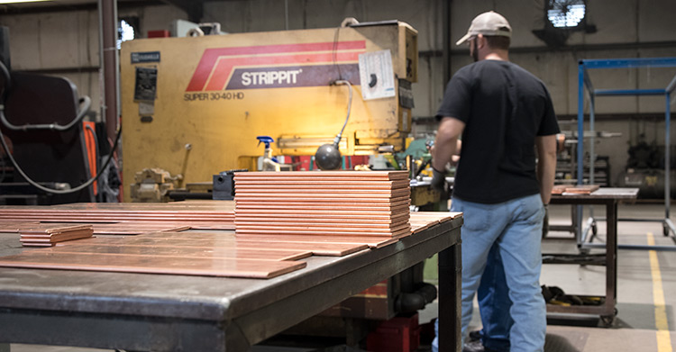 Copper Bending - Andrews Fabrication