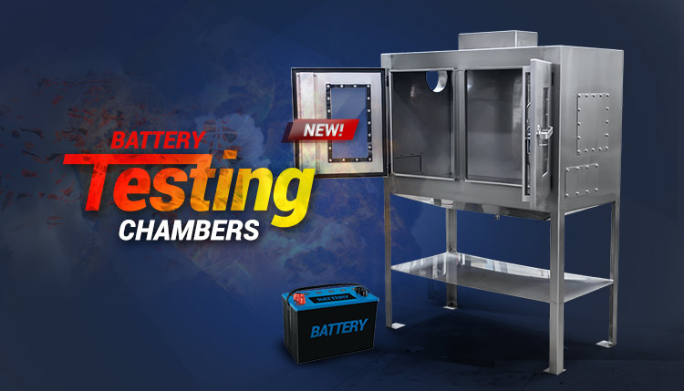 Custom Built Battery Test Chambers and Test Stations