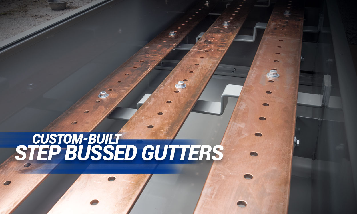 Step Bussed Gutters - Andrews Fabrication